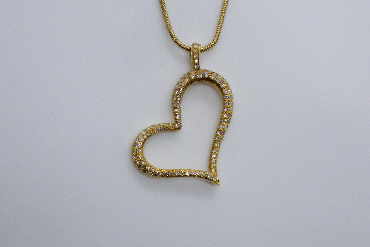 "Anhänger ""Yellow Heart"" im Online-Shop Schmuckwerkstatt"
