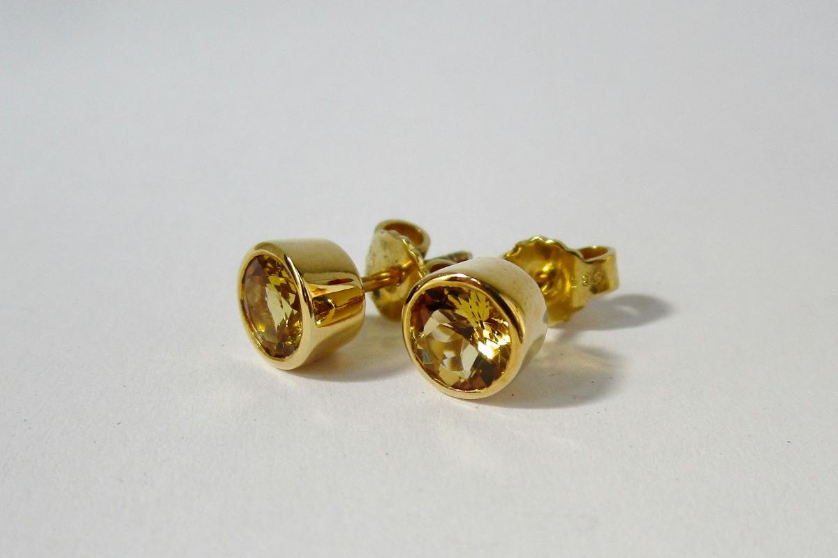 "Ohrstecker ""Gold Beryll"" im Online-Shop Schmuckwerkstatt"