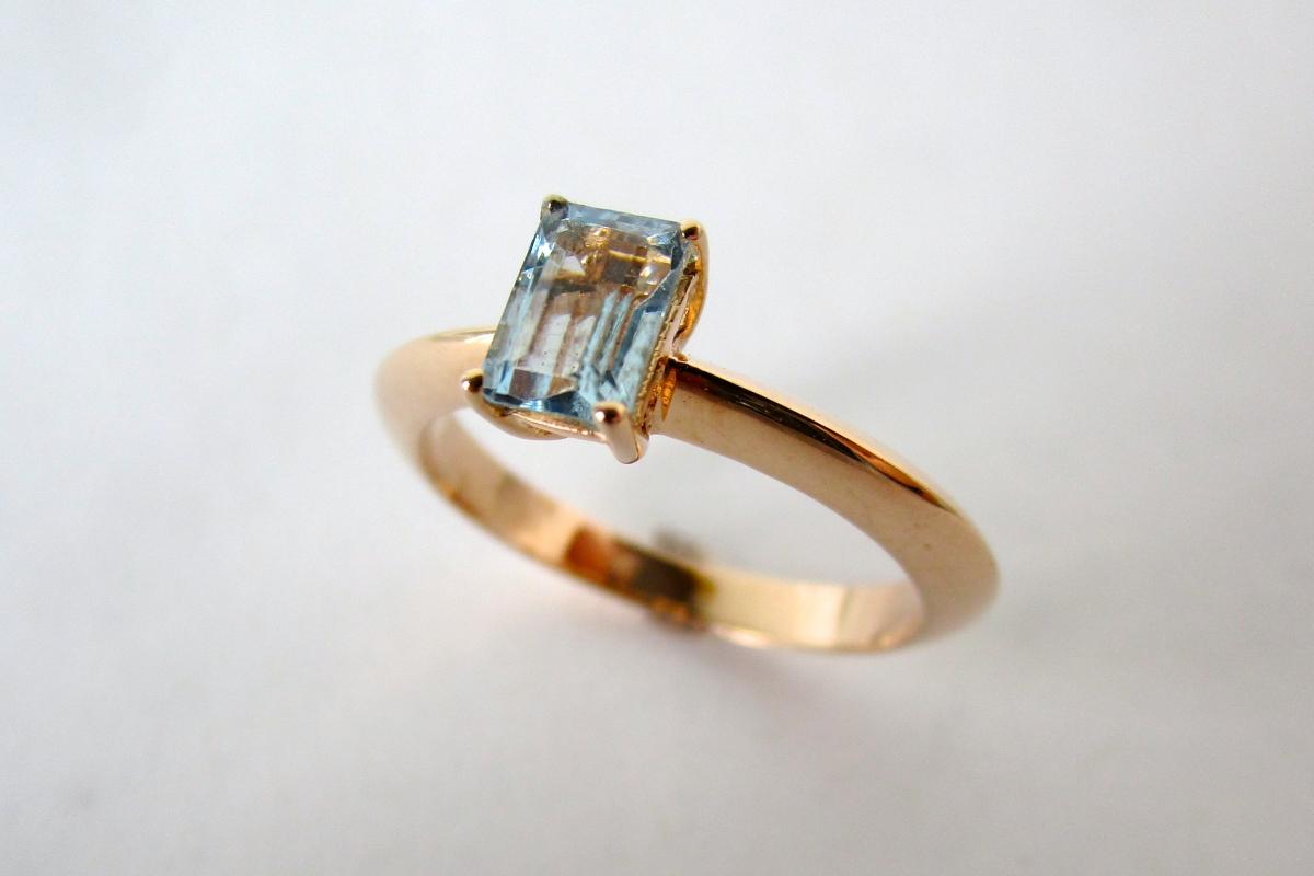 """Ring """"Aquamarin Baguette"""" im Online-Shop der Schmuckwerkstatt"""