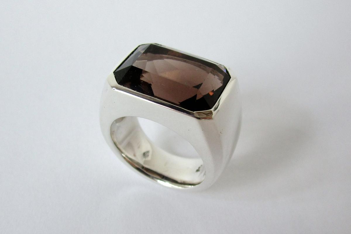 Ring Silber Rauchquarz  - Wien