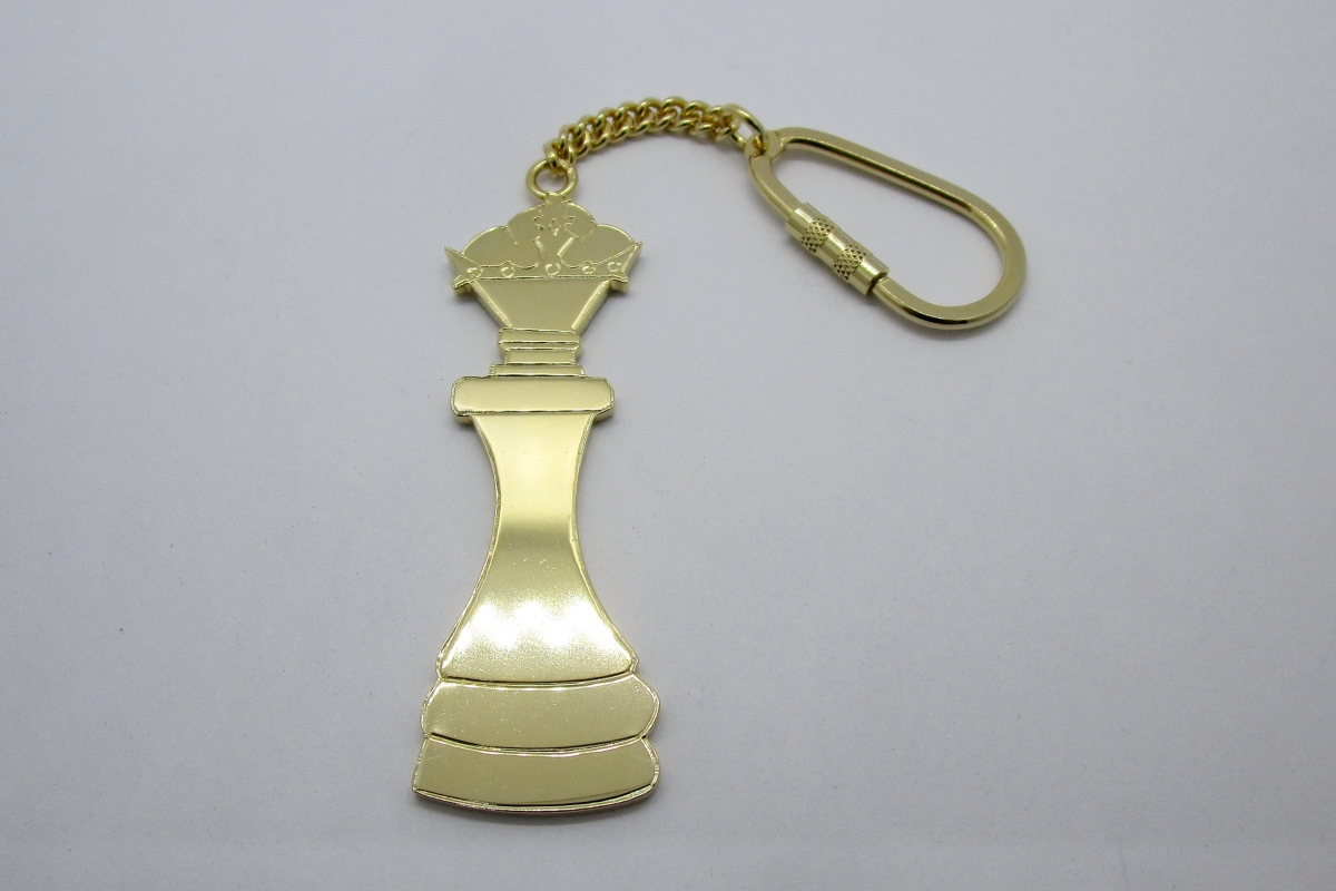 Schlusselanhanger Silber vergoldet Schachfigur Dame Kinderzeichnung  - Wien